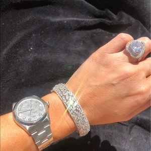 Sterling Silver CZ Bangle